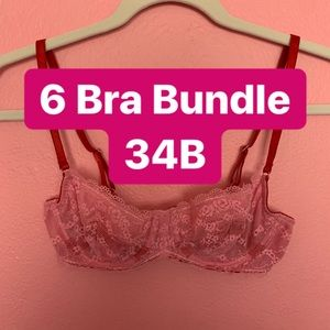 6 Bra Bundle Size 34B